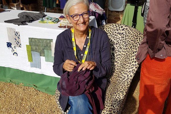 Paola Pellino durante uno dei suoi workshop
