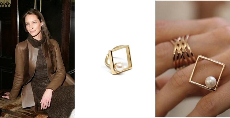 Christy Turlington - personalità CLASSICA abbinata all'anello Tokyo Co.Ro. Jewels