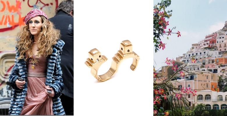 Sarah Jessica Parker, personalità CREATIVA, abbinata all'anello Fornillo Co.Ro. Jewels