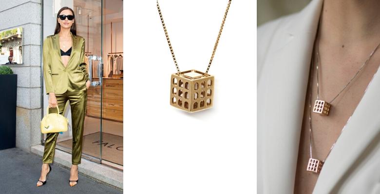Irina Shayk, personalità SEDUCENTE abbinata alla collana ciondolo Colosseo Co.Ro. Jewels
