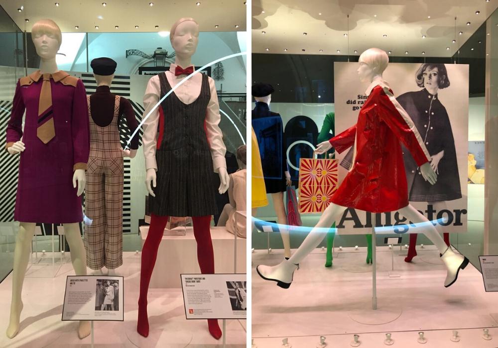 V&A Museum , Mostra Mary Quant, abiti in esposizione