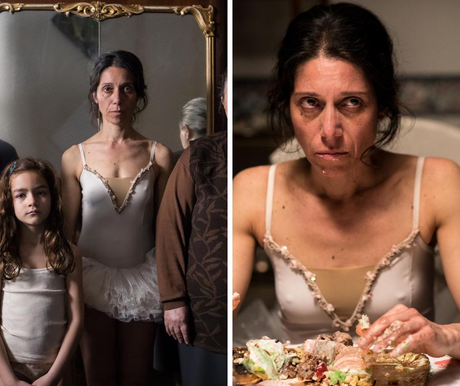 L'attrice Simona Malato che interpreta Maria da adulta