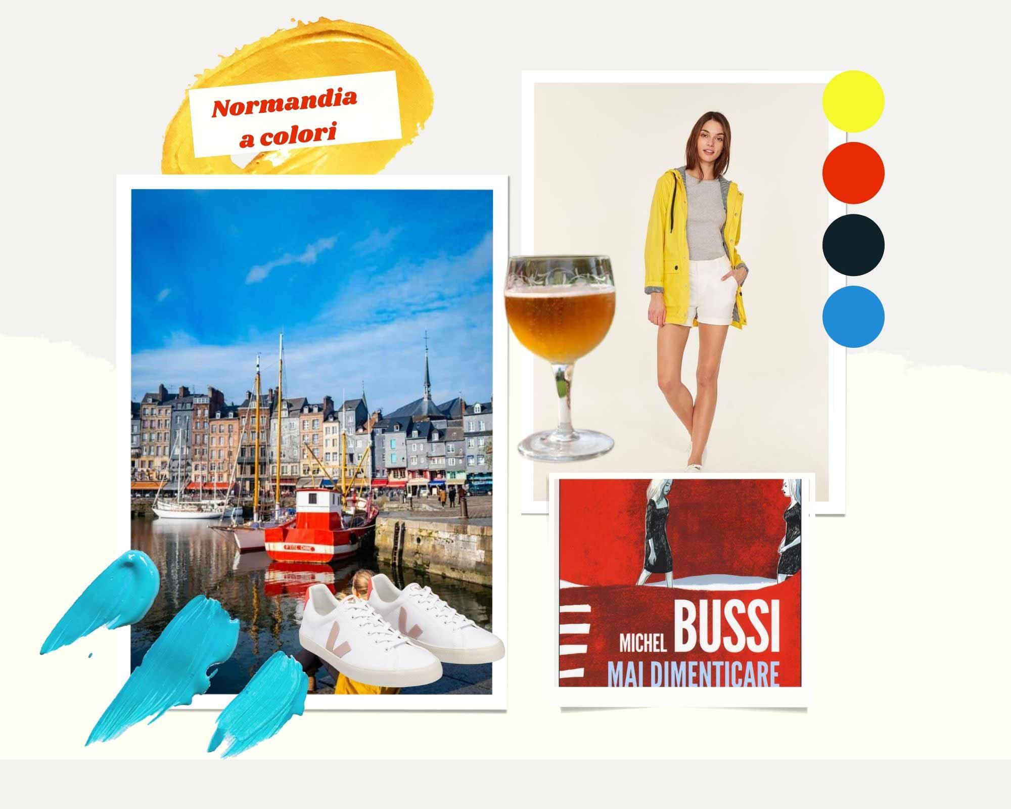 Moodboard Normandia a colori by Instant Mood