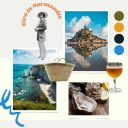 Moodboard giro in Normandia by Instant Mood